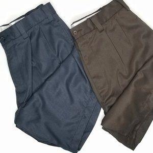Daniel Cremieux 2 Pleated Shorts Blue Brown Men's